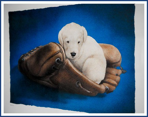 "BLUE - ""Puppy Glove"" Painting"