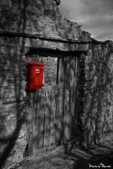 Hot Mail (madriguera) Tags: door red espaa muro stone wall mailbox rural cutout pared spain rojo puerta bravo village searchthebest decay pueblo ruin ruina segovia letterbox selectivecolor piedra madriguera buzon themoulinrouge mywinners colorselectivo abigfave anawesomeshot infinestyle goldenphotographer diamondclassphotographer megashot bwartaward serracinriaza