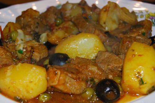 lamsvlees met saffraan, aardappelen en artisjokken 013