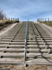 Stairway to... (by_irma) Tags: shadow holland beach monster strand sand stairway schaduw duinen trap zand zuidholland nederlandvandaag