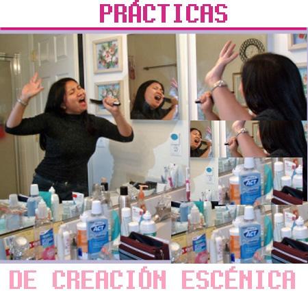 cantando en el baño, prácticas de creación escéncia 08 en La Poderosa