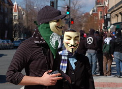 Two Anonymous (drewsaunders) Tags: washingtondc rally protest scientology manual anonymous 2008 dupontcircle churchofscientology orsonscottcard idesofmarch guyfawkesmask 55200mmvr enderwiggin speakersforthedead dcistexposed2009entry