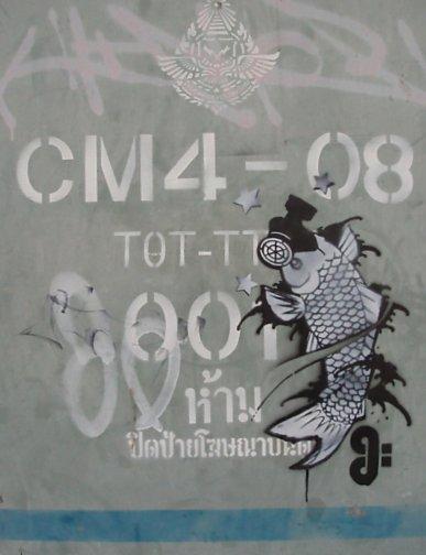 Chiang Mai graffiti
