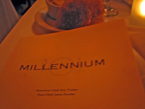 millennium menu