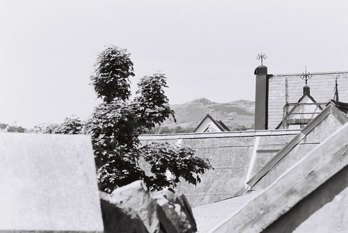 Rooftops and Mountain