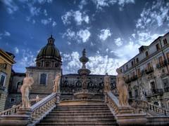 Blue sky... (Peppis) Tags: sky sicily palermo hdr sicilia piazzapretoria piazzadellavergogna piazzeitaliane anticando regionalgeographicsicilia siciliainhdr