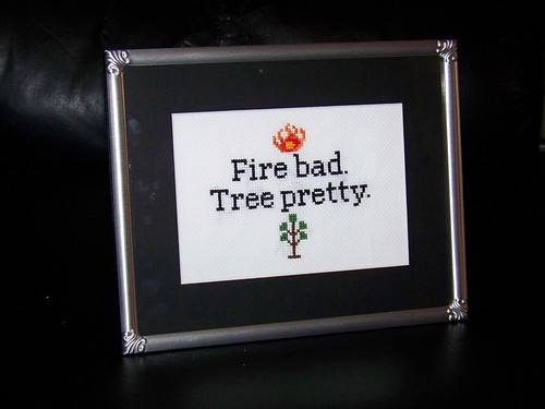 """Fire Bad"" Framed"