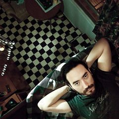 Day #70 - Tired (Luis Montemayor) Tags: selfportrait square mexico casa df tired autorretrato checker cansado cuadrados project365 luismontemayor