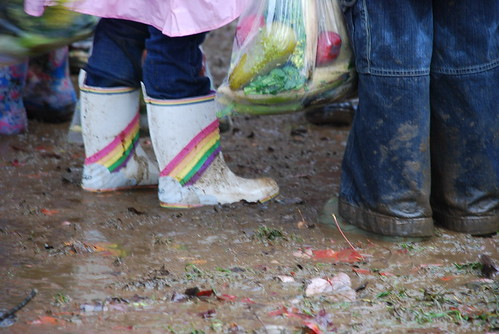 (and by this I mean RAIN and mud and boots) &copy Colleen Hilman