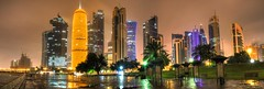 CITY LIGHTS (Ziad Hunesh) Tags: zhunesh canon 7dmarkii sigma night longexposure lights winter clouds doha qatar towers westbay corniche city cityscape