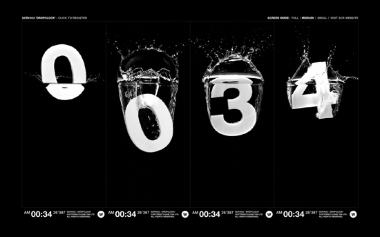 DropClock Screensaver