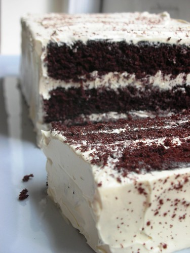 mile-high devil's food cake