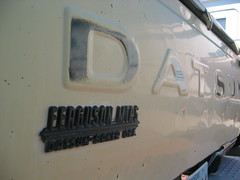Logo'd Tailgate (mellotrongirl) Tags: oregon truck baker pickup motors ute ferguson datsun 620 bulletside