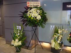 開店祝いのお花たち