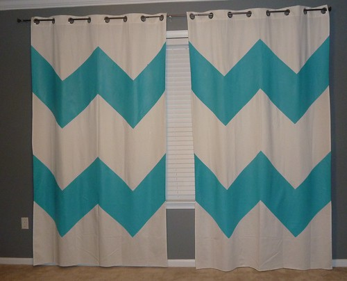 Painted Chevron Curtains
