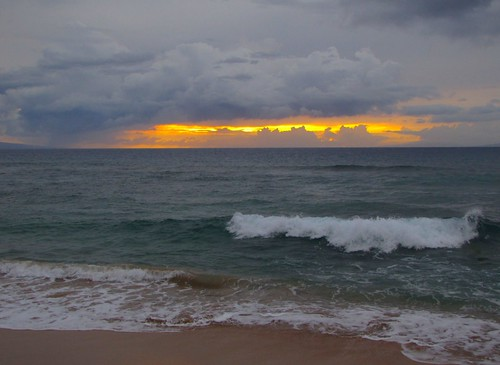 brilliant yellow sunset