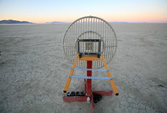 RF Rocket Tracking (jurvetson) Tags: desert dish weekend nevada balls rocket gps launch tracking rf blackrock hpr highpowerrocketry balls16