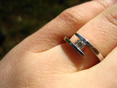 engagement hand ring