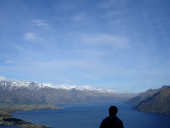 A view from the mountains above Queenstown NZ (Eoghan Lynch) Tags: newzealand lake mountains nature silhouette queenstown snowcappedmountains theremarkables