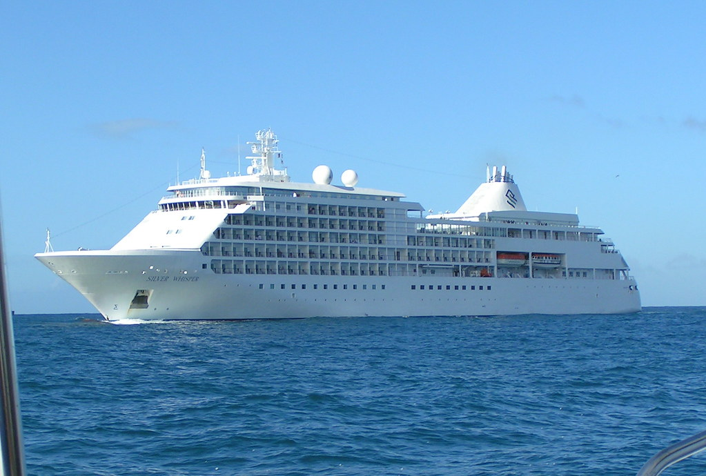 Silver Whisper in St Lucia