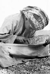 Oman in the seventies (Chris Kutschera) Tags: boy reading lecture oman coran eleve wadisumail