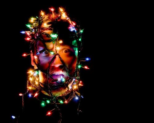 Thumb Retratos hechos con luces de Navidad