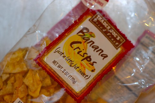 banana crisps: just a little bit sweet