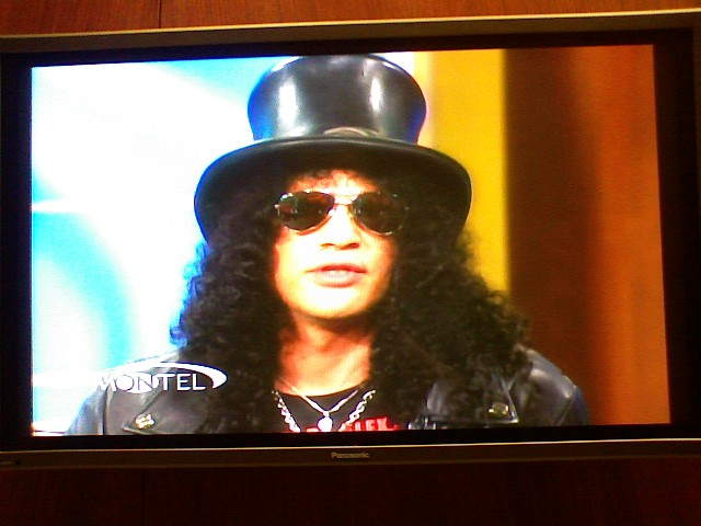 Slash on the Montel Williams show