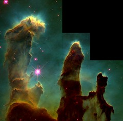 The Hubble image of the Pillars of Creation