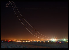 Boeing 757 Take Off @ Night (Kris Klop) Tags: longexposure night plane airplane lights fly flying airport long exposure aircraft aviation des ups boeing takeoff dsm 757 moines desmoines b757 earthnight kdsm dontforgettotagyourpicswith