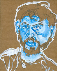self-portrait #04 guache on cardboard 3