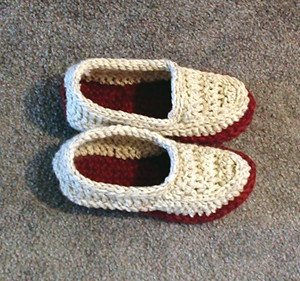 * Hmmm, Dad would wear these!  Too bad I just made him slippers for Yule, though. he he he