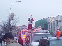 Santa on Ambulance