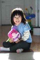 pre-xmas gift 奶奶给买的小猪,名叫zoey.:D