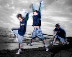 3 Gabes part 1 (mt_photo) Tags: longexposure boy usa lake ny mike kids photoshop jump buffalo action thomas son freeze erie leap lackawanna woodlawn mikethomas michaelthomas biggestgroup mtphoto cmndrfoggy