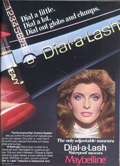 Vintage 80's Dial-a-Lash Mascara (twitchery) Tags: vintage ads eyelashes makeup 80s 70s mascara vintageads vintagebeauty