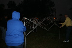Tent Goes Up! (Timothy Totten) Tags: ferranpark eustis125thcelebration carandboatshow marciaarnold