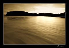 Playa de Barro, Llanes (javivaz) Tags: sea bw blancoynegro beach sunshine sepia nikon sigma asturias playa amanecer 1020 llanes barro tobaco fuga marea virado cokin degradado d40 bwdreams