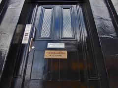 Front door to The Burlington Magazine, Bloomsb...