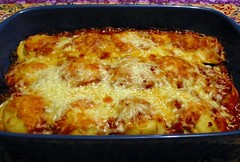 Do-Ahead Ravioli-Sausage Lasagna