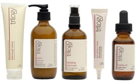 Trilogy Organic Skincare Range