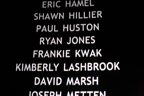 Spotting someone you know in a movie's end credits...
