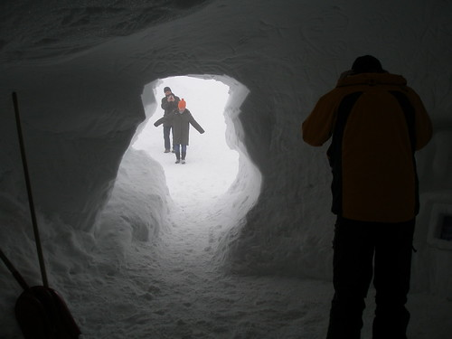 Entrance to the Ice Palace, Dachstein Glacier