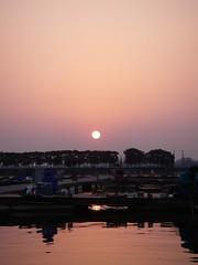 椎の木湖の朝日