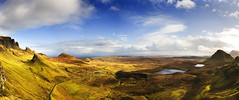 The Quiraing, Skye (Corica) Tags: greatbritain panorama skye landscape scotland scenery britain panoramic theneedle staffin quiraing panoramamaker thequiraing corica theminch canon1755 staffinbay canon400d sartle
