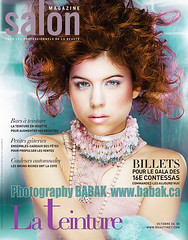 French-Cover (BABAK photography) Tags: lighting portrait texture 2004 beauty canon vintage published shoot photographer photoshoot 85mm babak naha 80200mm salonmagazine covershot hairfashion photographybabak babakca hairshoot contessahair babakphotographer