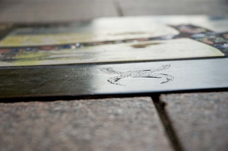 Down town street tile