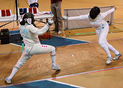 Women's Epee, OUA Finals, 2008 (Graham Pressey) Tags: ontario canada sport fence intense action guard parry finals fencing carleton reaction rmc lunge epee royalmilitarycollege escrime fencer fleche oua