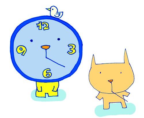 むー時計をまねするむー補正