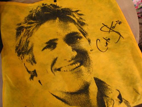 親筆簽名的 Curtis Stone 肖像環保袋